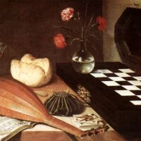 Baugin Still-life With Chessboard The Five Senses