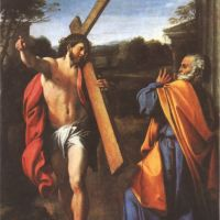 Carracci Annibbale Domine Quo Vadis Christ Appearing To St Peter On The Appian Way