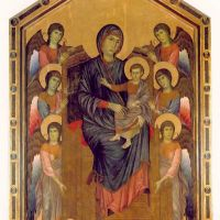 Cimabue The Virgin And Child Enthroned And Surrounded By Angels