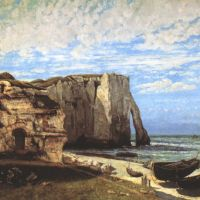 Courbet Gustave The Cliff At Etretat After The Storm