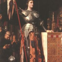Ingres Jad Joan Of Arc At The Coronation Of Charles Vii In Reims