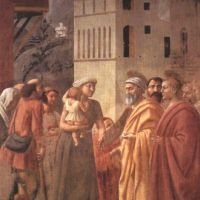 Masaccio St Peter Distributes The Goods Of The Community And The Death Of Ananias