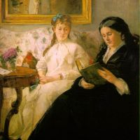 Morisot Berthe La Lecture Reading - The Mother And Sister Of The Artist