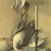 Oudry Jean Baptiste Still Life With White Duck