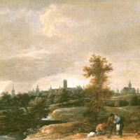 Tenier David The Younger A View Of The Countryside Near Brussels