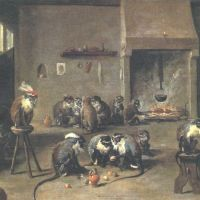 Tenier David The Younger Monkeys In A Kitchen